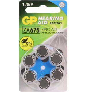 GP Hoorapparaat batterij ZA675, blister 6