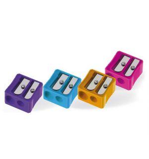 Puntenslijper Möbius & Ruppert Dubbel Plastic Vierkant Assorti Kleuren