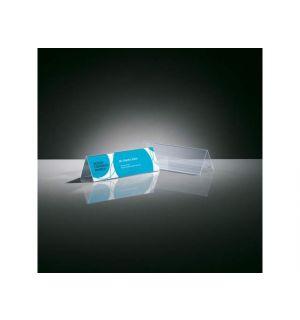 Tafelkaartje Sigel 190X60Mm Glashelder Dakvorm Doos A 5 Stuks