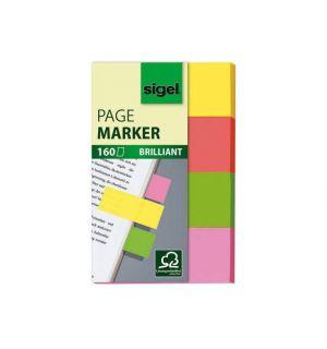 Indexeringsstrookjes Sigel 80X50Mm Brillant 4-Kleurig Assorti