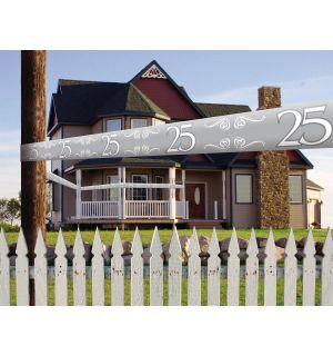 25 Jaar Zilver Afzetlint - 15 meter