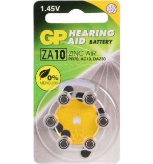 GP Hoorapparaat batterij ZA10, blister 6