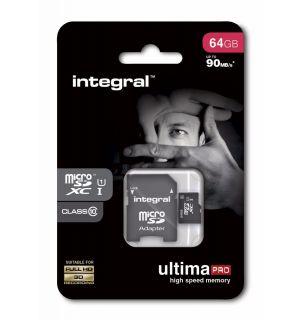 64GB Integral MicroSDXC card - class 10 (90MB/s)