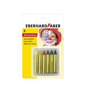 Schminkstiften Eberhard Faber Klein, Set 6 Kleuren Op Blisterkaart
