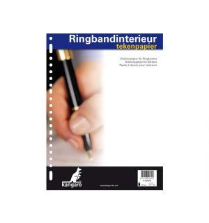 Ringbandinterieur Kangaro 23R Tekenpap 120 Gr. 50 Vel