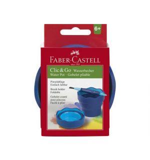 Watercup Faber-Castell Clic&Go blauw