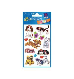 Papieretiket Z-Design Kids Pakje A 3 Vel Honden