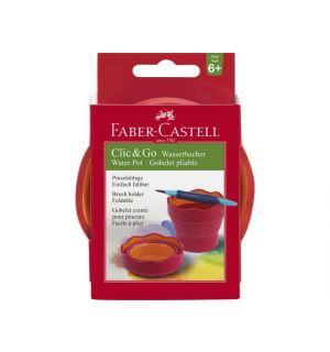 Watercup Faber-Castell Clic & Go roze oranje