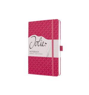 Notitieboek Sigel Jolie Flair A5 Hardcover Gelinieerd Fuchsia Roze