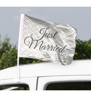 Autovlag Just Married Bruiloft - 2 stuks