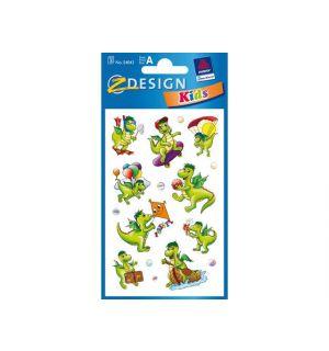Papieretiket Z-Design Kids Pakje A 3 Vel Draken