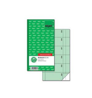 Bonboekje Sigel Zelfdoorschrijvend 10,5X20Cm 360 Nrs Groen