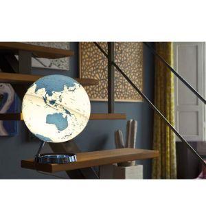 Wereldbol Globe Bright Hot Blue Met Verlichting