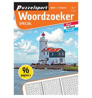 Puzzelsport Puzzelboek 96 pagina's Woordzoeker Special 3 Stippen