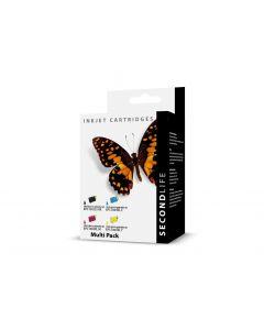 SecondLife Voordeelset Epson 603 XL zwart + 3 kleuren