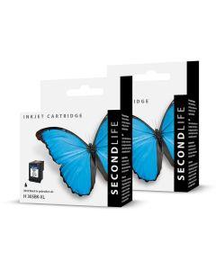 SecondLife Voordeelset HP 305 XL zwart + 3 kleuren