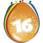 16 Jaar Ballonnen - 8 stuks