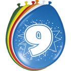 9 Jaar Ballonnen 30cm - 8 stuks
