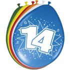 14 Jaar Ballonnen 30cm 8 stuks